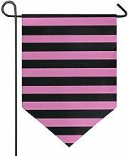 AMONKA Garten-Flagge mit Streifenmuster,