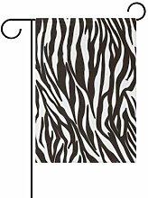 AMONKA Garten-Flagge mit Zebrastreifen,