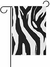 AMONKA Garten-Flagge, Zebramuster, zweiseitig,