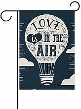 AMONKA Love is In The Air Luftballon Gartenflagge,