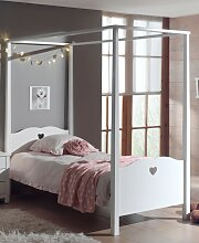 Amori Himmelbett 90x200 cm Weiß