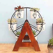 AMOS Desktop Mini Blume Stand feste Holz Büro kleine Blume Rahmen Erker Fenster kleine Pflanze Blumentopf Regal