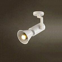 AMOS Retro Creative Bar Decke Scheinwerfer Bekleidung Shop LED Spotlight ( Farbe : Weiß-28cm )