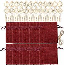 Amosfun 1 Sätze Weihnachten Jutebeutel Säckchen