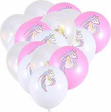 Amosfun 15 Stück Einhorn Latex Ballon Geburtstag