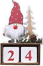 Amosfun 2021 Weihnachtskalender Holz Ewiger