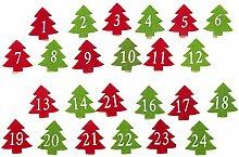 Amosfun 24Pcs Weihnachten Holz Wäscheklammern