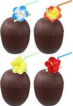 Amosfun 4 Stück Kunststoff Kokosnuss-Becher