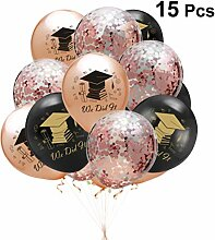 Amosfun Abschlussballone Kappe 2019 Buchstaben
