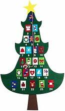 Amosfun Adventskalender aus Filz, Weihnachtsbaum,