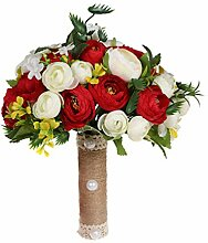 Amosfun Brautstrauß Hochzeit künstliche Rose