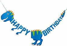 Amosfun Dinosaurier Happy Birthday Banner süßes