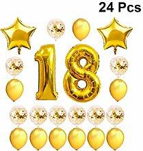 Amosfun Geburtstagsdeko Balloons 18. Geburtstag