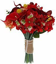 Amosfun Hochzeit künstlicher Blumenstrauß