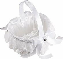 Amosfun Hochzeitskorb elegant große Satin