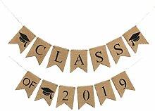 Amosfun Klasse von 2019 Abschluss Girlande Leinen
