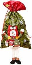 Amosfun Schneemann Geschenksäckchen Weihnachten