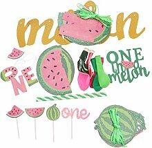 Amosfun Summer Wassermelone Kuchen-Dekoration,