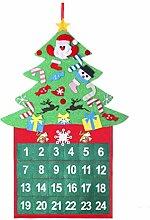 Amosfun Weihnachten Advent Countdown Kalender