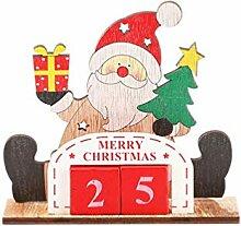 Amosfun Weihnachten Santa Block Kalender