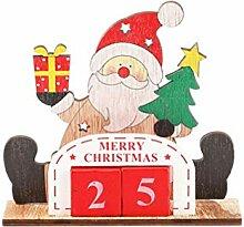 Amosfun Weihnachts-Adventskalender aus Holz,