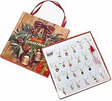 Amosfun Weihnachts Adventskalender Geschenkbox Set