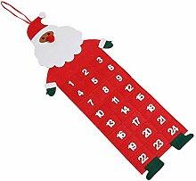 Amosfun Weihnachtsfilz Baumkalender Weihnachtsfilz