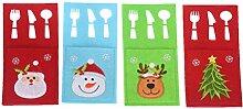 Amosfun Weihnachtsgeschirr-Taschen mit niedlicher