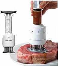 Amoyer Küche Multifunktionale Meat Injector-Nadel