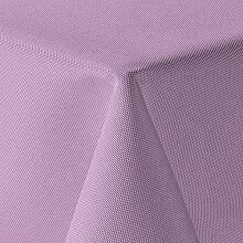 amp-artshop Tischdecke Leinen Optik Eckig 130x130 cm Flieder Hell Lila - Farbe wählbar mit Lotus Effekt - (Lo_E130x130Flieder)