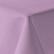amp-artshop Tischdecke Leinen Optik Eckig 130x300 cm Flieder Hell Lila - Farbe , Form & Größe wählbar mit Lotus Effekt - (E130x300Flieder)