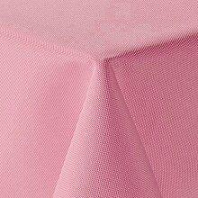 amp-artshop Tischdecke Leinen Optik Eckig 135x180 cm Rosa Hell Pink - Farbe wählbar mit Lotus Effekt - (Lo_E135x180Rosa)