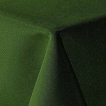 amp-artshop Tischdecke Leinen Optik Eckig 160x160 cm Dunkelgrün Grün - Farbe wählbar mit Lotus Effekt - (Lo_E160x160DGrün)