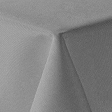 amp-artshop Tischdecke Leinen Optik Eckig 160x160 cm Hellgrau - Farbe , Form & Größe wählbar mit Lotus Effekt - (E160x160HGrau)
