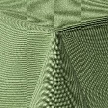 amp-artshop Tischdecke Leinen Optik Eckig 160x260 cm Hellgrün Grün - Farbe , Form & Größe wählbar mit Lotus Effekt - (E160x260HGrün)