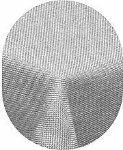amp-artshop Tischdecke Leinen Optik Oval 160x260 cm Hellgrau- Farbe , Form & Größe wählbar mit Lotus Effek