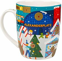 AMPELMANN Weihnachtsbote - Kalendertasse - aus