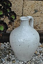 Amphore,Vase,glasiert,antik-Optik,39cm hoch,frostfestes Steingu