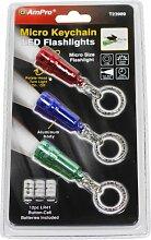 Ampro Tools t23989Nano Taschenlampe, Rot/Blau/Grün