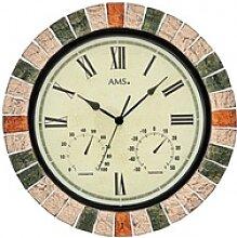 AMS -Uhr mit Wetterstation 46cm- 9620