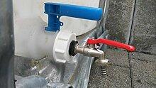 AMS196W3412MK12 Auslaufhahn 1/2 Zoll, IBC-Container-Zubehör-Regenwasser-Tank-Adapter-Fitting-Kanister