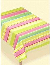 Amscam Papiertischdecke, gestreift, mehrfarbig, 1