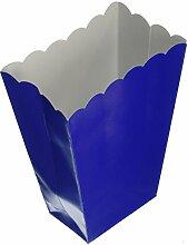 Amscan 10 Popcorn Becher Königsblau 8,8 x 18,7 x 5,3cm