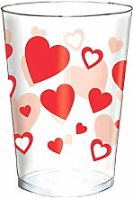 Amscan 350050 Valentine's Day Plastic Tumblers