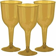Amscan 350101.19 wine glass Weinglas, plastik, gold
