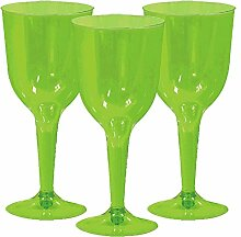 Amscan 350101.53 Plastic Wine Glass Weinglas,