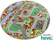 Amsterdam HEVO® Teppich | Spielteppich | Kinderteppich 160 cm Ø Rund Oeko-Tex 100