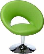 AMSTYLE Relaxsessel MALTA Loungesessel Bezug Kunstleder Farbe grün Cocktailsessel drehbar modern Leder-Optik Clubsessel 100 kg X-XL Loungestuhl festestehend Polster bequem Relaxstuhl Cocktailstuhl