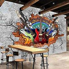 AMTTGOYY 3D Wandbilder Wallpaper Gitarre Rock