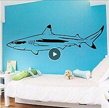 Amüsante Hai Wandkunst Aufkleber Wandaufkleber